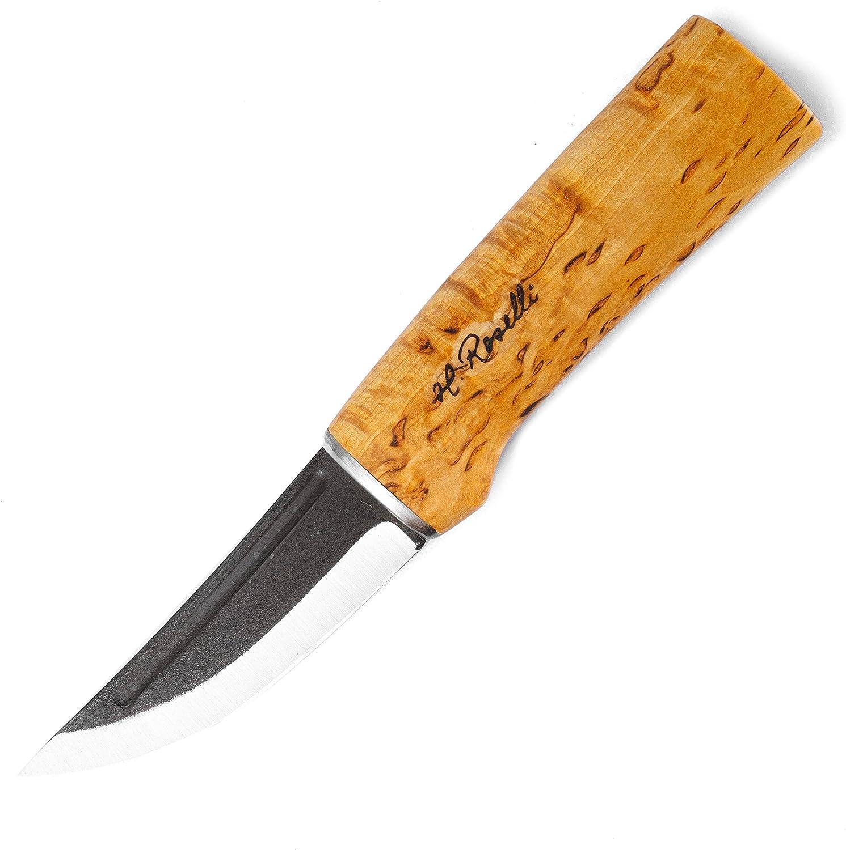 H. Rosalli R100 Jagdmesser, Das bekannteste Messer von Rosalli -Since 1976-, Carbonstahl B079976MBS  Nutzen Sie Materialien voll aus