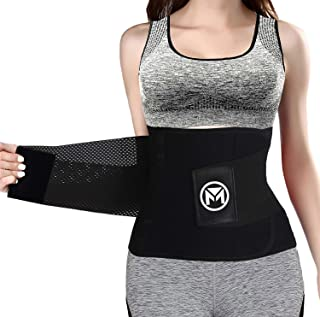 Moolida Waist Trainer Belt for Women Waist Trimmer Weight Loss Workout Fitness Back Support Belts