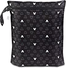 Bumkins Disney Waterproof Wet Bag, Washable, Reusable for Travel, Beach, Pool, Stroller, Diapers, Dirty Gym Clothes, Wet Swimsuits, Toiletries, Electronics, Toys, 12x14 - Mickey Mouse Icon