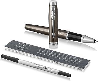 Parker IM Rollerball Pen, Dark Espresso with Fine Point Black Ink Refill (1975543)