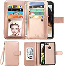 Spritech LG K20 V Case,LG K20 Plus Wallet Case,LG Harmony/LG Grace/LG V5 / K10 2017 PU Leather Case, Luxury Cash Credit Card Slots Holder Flip Cover [Detachable Magnetic Hard Case]