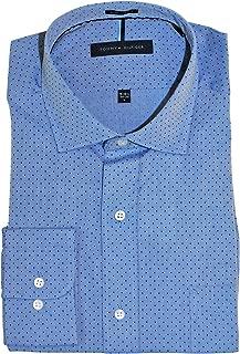 Camisa de Vestir con Cuello Abierto, Ajuste Regular, no Necesita Planchado, para Hombre