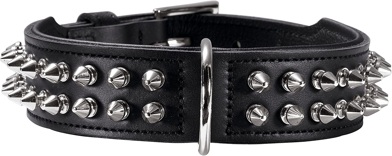 HUNTER Rambo Genuine Cow Leather Collar, 60 47 x 54 cm, Small, Black Nappa Black
