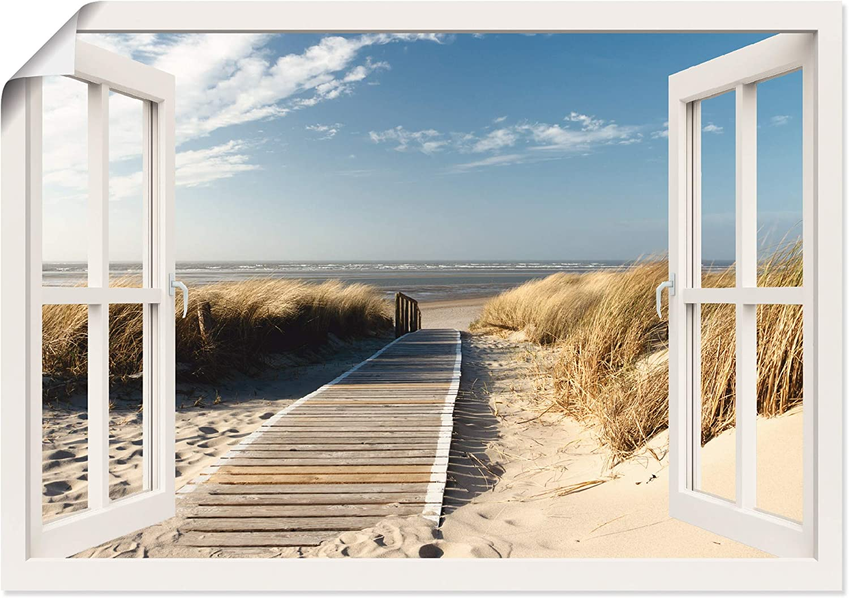 Bild auf Leinwand Fensterblick Nordsee Strand Meer Poster XXL 100 cm*65 cm 626