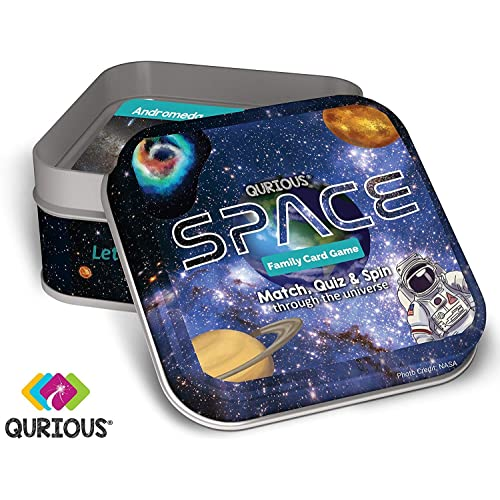 Qurious Space | STEM Flash Card Game | Explore, Match, Quiz & Spin Through