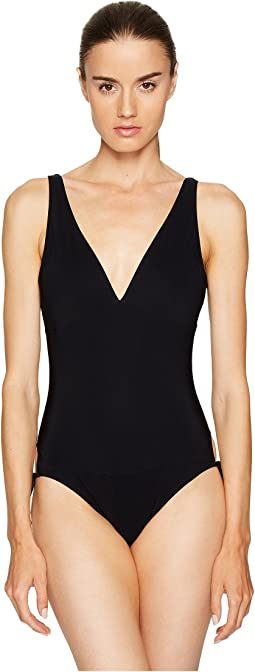Tuxedo Swimwear One-Piece Side Tie