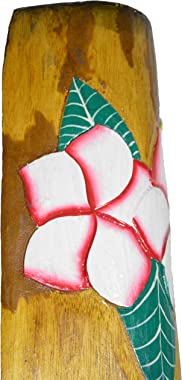 """WorldBazzar 40"""" Hand Carved Hibiscus Flower Polynesian Hawaiian Tiki Style MASK Scratch and DENT Sale!!!"""