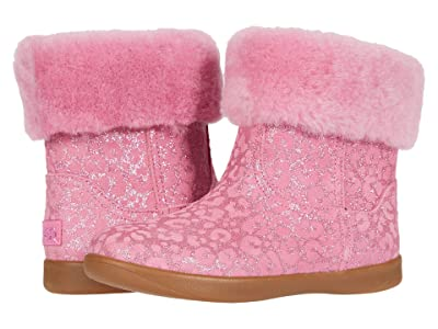UGG Kids Jorie II Glitter Leopard (Toddler/Little Kid) (Wild Berry) Girls Shoes