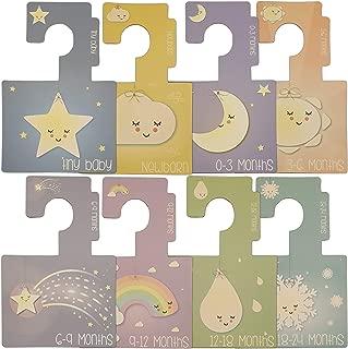 Passend f/ür alle Standard-Kindergartenschienen Doppelseitige Garderobenb/ügel Muster Verpackung von 8 Belo Muster Me Babygarderobe Trennw/ände
