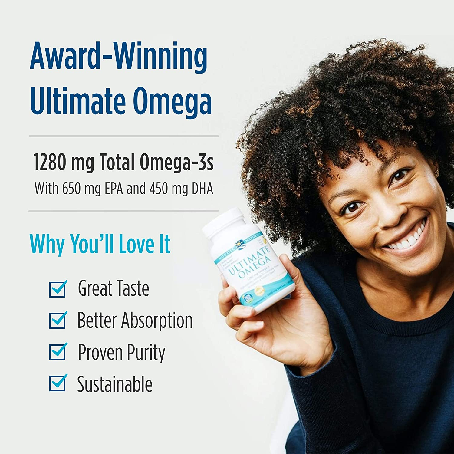 Nordic Naturals Ultimate Omega, Lemon Flavor - 1280 mg Omega-3-2 Pack - 360 Total Soft Gels - High-Potency Omega-3 Fish Oil with EPA & DHA - Promotes Brain & Heart Health - Non-GMO - 180 Servings