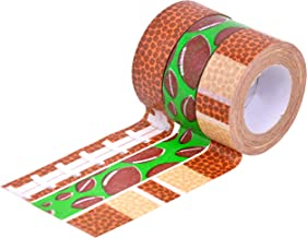 HiArt Repositionable Washi Tape, Sports Collection Football Mania, Set of 3