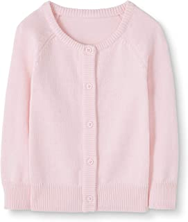 5 Light Pink Moon and Back Little Girls Baby Toddler Cardigan Sweater