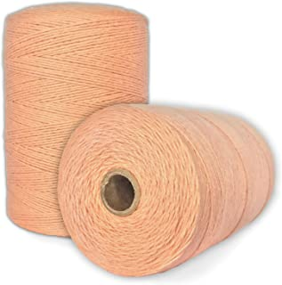 100% Cotton Loom Warp Thread (Peach), 8/4 Warp Yarn (800 YARDS), Perfect for weaving: carpet, tapestry, rug, blanket or pattern - Warping thread for ANY LOOM