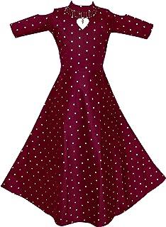 Fashion Dream Baby Girl Jacquard Silk Long Gown/Ethnic Dress