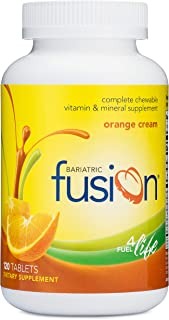 Bariatric Fusion Complete Chewable Multivitamin and Mineral Supplement Orange Cream 120 Tablets for Gastric Bypass and Sle...