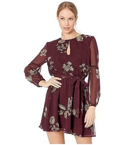 BB Dakota La Vie En Rose Printed Dress (Boysenberry) Women
