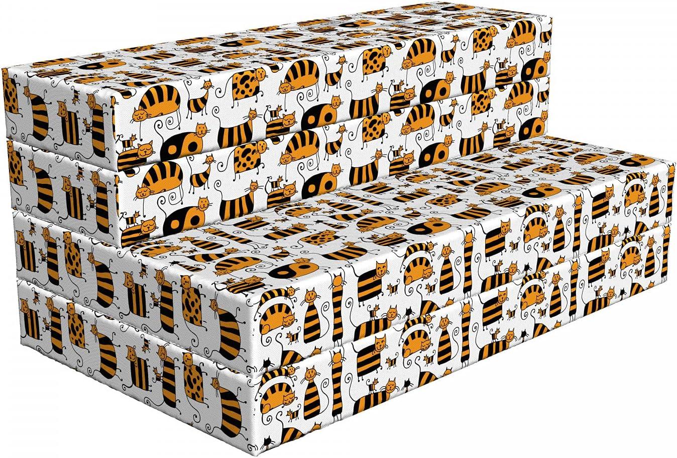 Ambesonne Kitten Foldable Mattress Striped 78.7