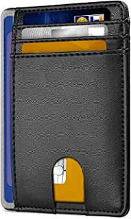 RFID Blocage Portefeuille Porte-Cartes et Carte D'IDENTITE Francaise Portefeuille Anti RFID 7 rangements pour Cartes Contr...