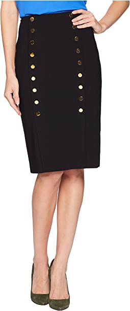 Lux Skirt with Buttons