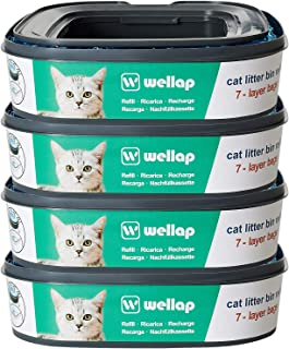 wellap Cat Litter Disposal System Refills Compatible with Litter Genie Pail