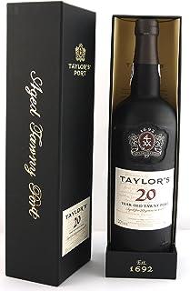 """Taylor Fladgate 20 year old Tawny Port 75cls in Taylor""""s Gift Box. Da zu vier Wein Zubehör, Korkenzieher, Giesser, Kapselabschneider, Weinthermometer"""