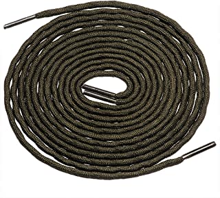 "Birch's 3/16"" Thick Special Wave Design Round Boots Shoelaces Solid and Two Tone Colors"