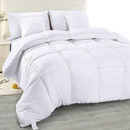 Utopia Bedding Chaude Couette 240x 220 cm, Couette en Microfibre (Blanc, 220 x 240 cm)