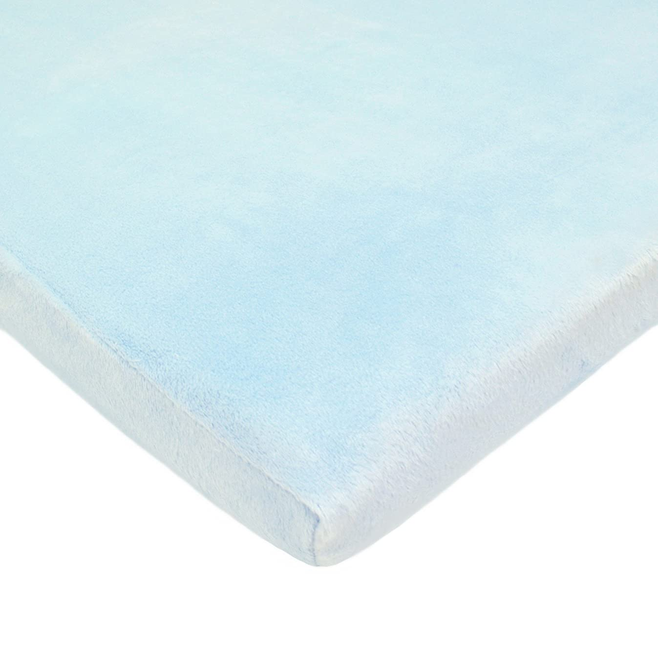 American Baby Company Heavenly Soft Chenille Fitted Cradle Sheet, Blue, for Boys and Girls