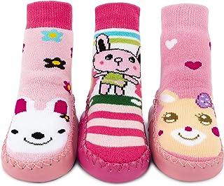 Calcetines Zapatos Antideslizantes para Bebé 3 Pares
