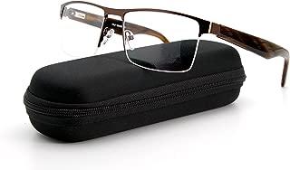 Men Fashion Rectangle lens Metal Great Quality Frame Non-prescription Wide Vision Eyewear
