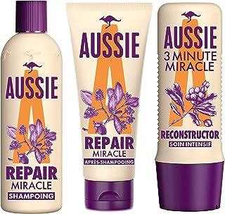 Aussie Routine Capillaire Repair Miracle et Reconstructor à lHuile de Graines de Jojoba Shampoing 300ml Après-shampo...