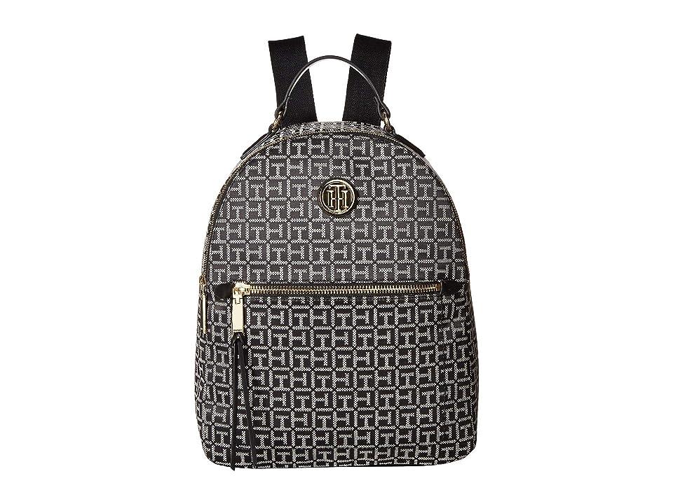 Tommy Hilfiger Shannon Backpack (Black/White) Backpack Bags