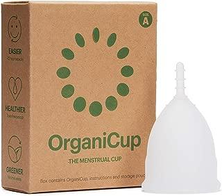 Copa menstrual OrganiCup - Talla A/pequeña - Ganadora del los AllergyAwards 2019 - Aprobada por la FDA - Silicona suave, flexibe y reutilizable de grado medicinal