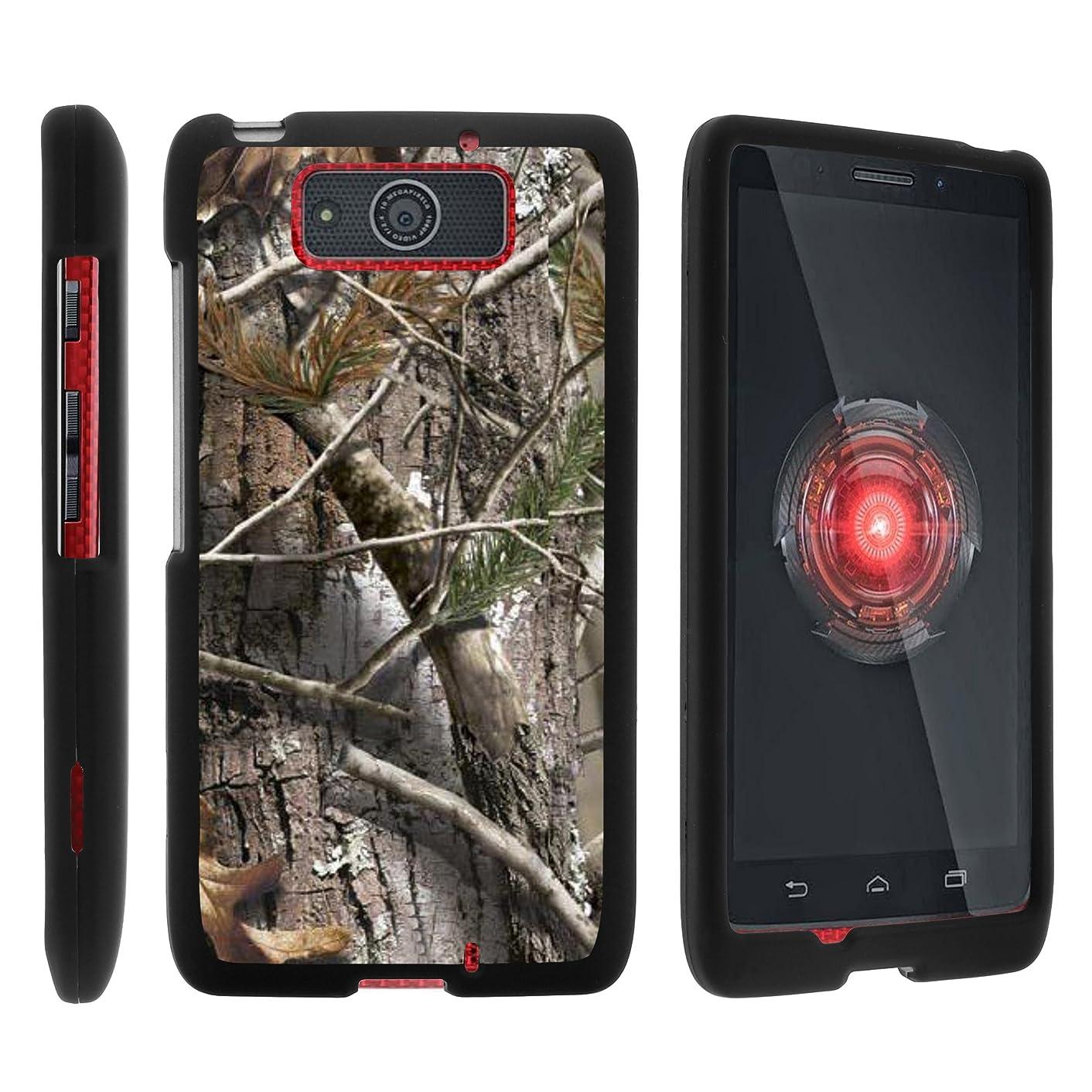 MINITURTLE Case Compatible w/Motorola DRIOD Ultra XT1080M Case, Cell Phone Case Hard Cover w/Cute Design Patterns for Motorola Droid MAXX XT1080 Tree Bark Hunter Camouflage