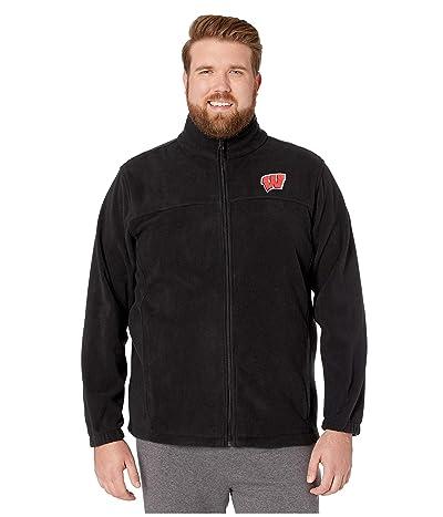 Columbia College Big Tall Wisconsin Badgers CLG Flankertm III Fleece Jacket (Black) Men