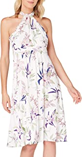 Marchio Amazon - TRUTH & FABLE Vestito Midi Halter Donna