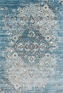 4620 Distressed Blue 6'5x9'2 Area Rug Carpet Large New
