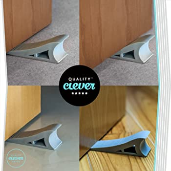 Quality Clever Decorative Rubber Door Stopper, Tall and Adjustable to Fit All Doors, Solid Stable Base, Easy to Move ...