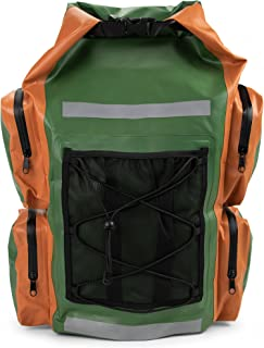 Grizzly Peak Dri-Tech Waterproof Dry Backpack, IP 66 Lightweight Roll-Top Dry Bag with Shoulder Straps & 5 Outer Pockets - Protects Valuables & Belongings