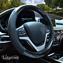 Valleycomfy Steering Wheel Covers Universal 15 inch Breathable, Anti Slip & Odor Free with Pu Leather for Car Truck SUV