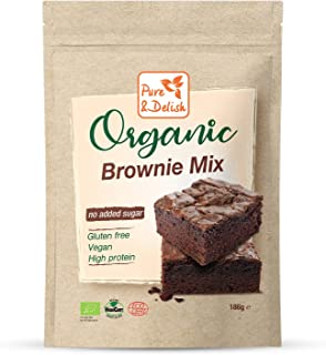 BROWNIE MIX, ORGANIC, VEGAN, GLUTEN FREE, NO SUGAR ADDED, HIGH IN PLANT PROTEIN