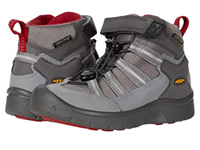KEEN Kids Hikeport 2 Sport Mid WP (Toddler/Little Kid) (Magnet/Chili Pepper) Boys Shoes