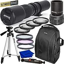 $99 » Ultimaxx 500mm/1000mm f/8 Preset Telephoto Lens Kit for Nikon D7500, D500, D600, D610, D700, D750, D800, D810, D850, D3100, D3200, D3300, D3400, D5100, D5200, D5300, D5500,D5600, D7000, D7100, D7200