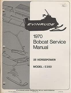 1970 EVINRUDE SNOWMOBILE BOBCAT 25 HP SERVICE MANUAL 405574 (631)