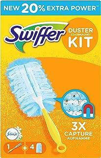 """Swiffer Duster dammkilsats, handtag med 4 dammsladdar, med doft """"vårväxande"""" från Febreze"""