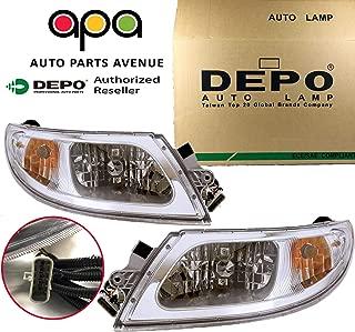 APA Replacement For Headlight Headlamp Pair Set International Truck 4100 4200 4300 4400 8500 8600