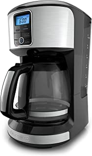 BLACK+DECKER 12-Cup Programmable Coffeemaker, Stainless Steel, CM4100S