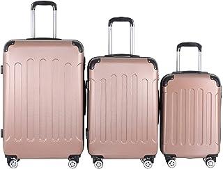 Vojagor® Set de Valises - 3 Tailles (56 cm, 66 cm, 76 cm), en ABS Rigide, 4 roulettes Pivotantes, Poignée Télescopique, Se...