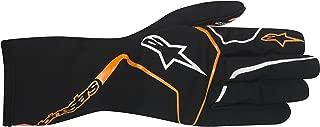 Alpinestars 3552017-156-M TECH 1-K RACE GLOVES, BLACK/ORANGE FLUORESCENT, SIZE M (PR)