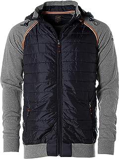 Kitaro Sweatjacke Sweat Jacke Shirt Cardigan Herren Langarm Schwarz Plusgröße